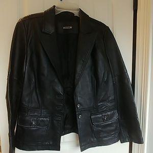 Leather jacket ( i.e. relaxed )